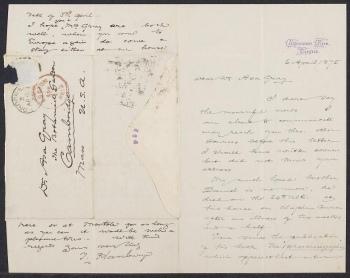 Letter from Thomas Hanbury to Asa Gray 6 April 1875