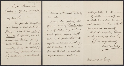 Letter from Daniel Hanbury to Asa Gray, 17 August 1874