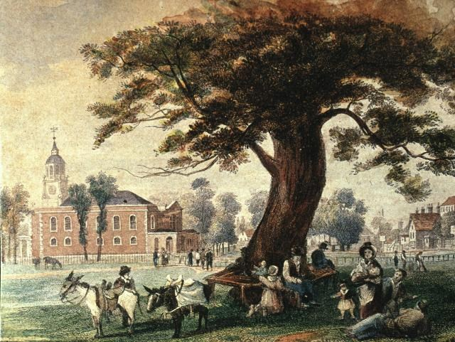 The Common with Holy Trinity Church, c.1840.