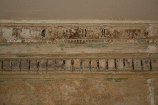 Detail of original 1780s cornice,