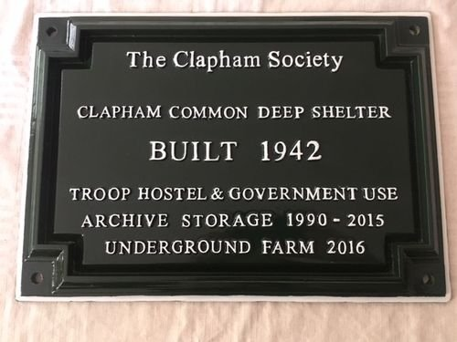 The Clapham Society Green Plaque