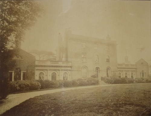 Photograph of the front elevation, date uncertain, probably c.1870,