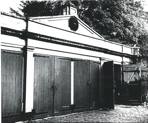 6-Original-stable-The original stable block became 'Eagle House Garages' in the 1930s,block-1988