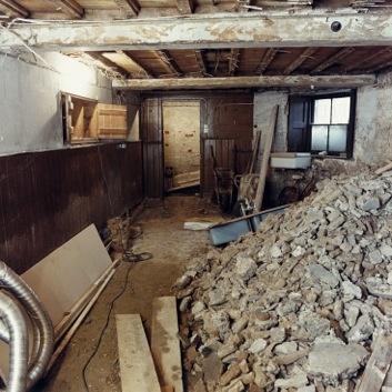 Original servants hall in 1988,