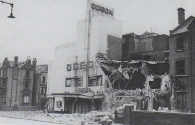 The cinema bombed,1940