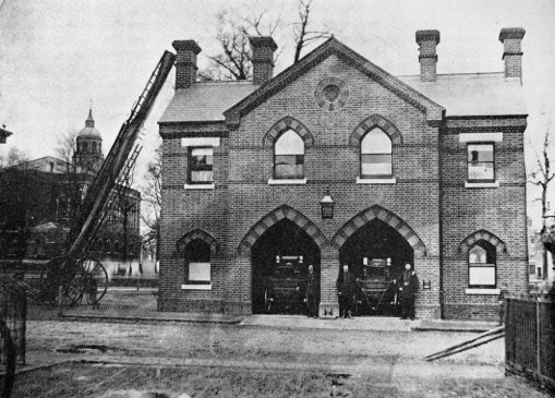 The 1868 Fire Station, photographed in 1869.