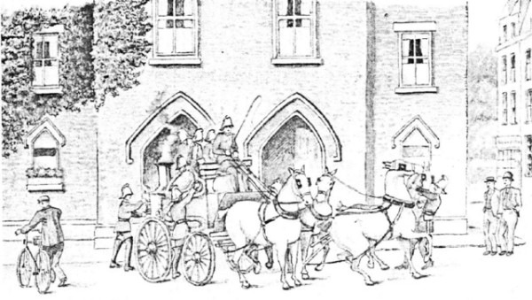 The Old Fire Station, as drawn by Francis Byford,