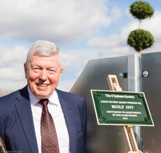 Rt. Hon. Alan Johnson, MP. After unveiling the plaque,