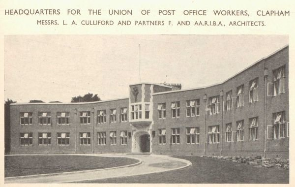 General view of exterior of UPW HQ
