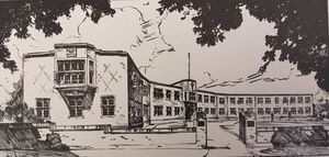 Drawing of UPW HQ in 1937