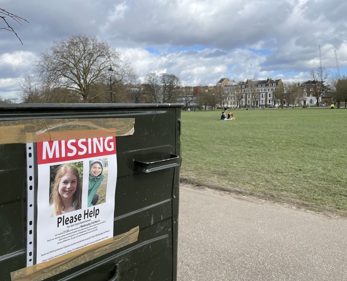 Early March — Days after Sarah's disappearance 'Missing' posters went up