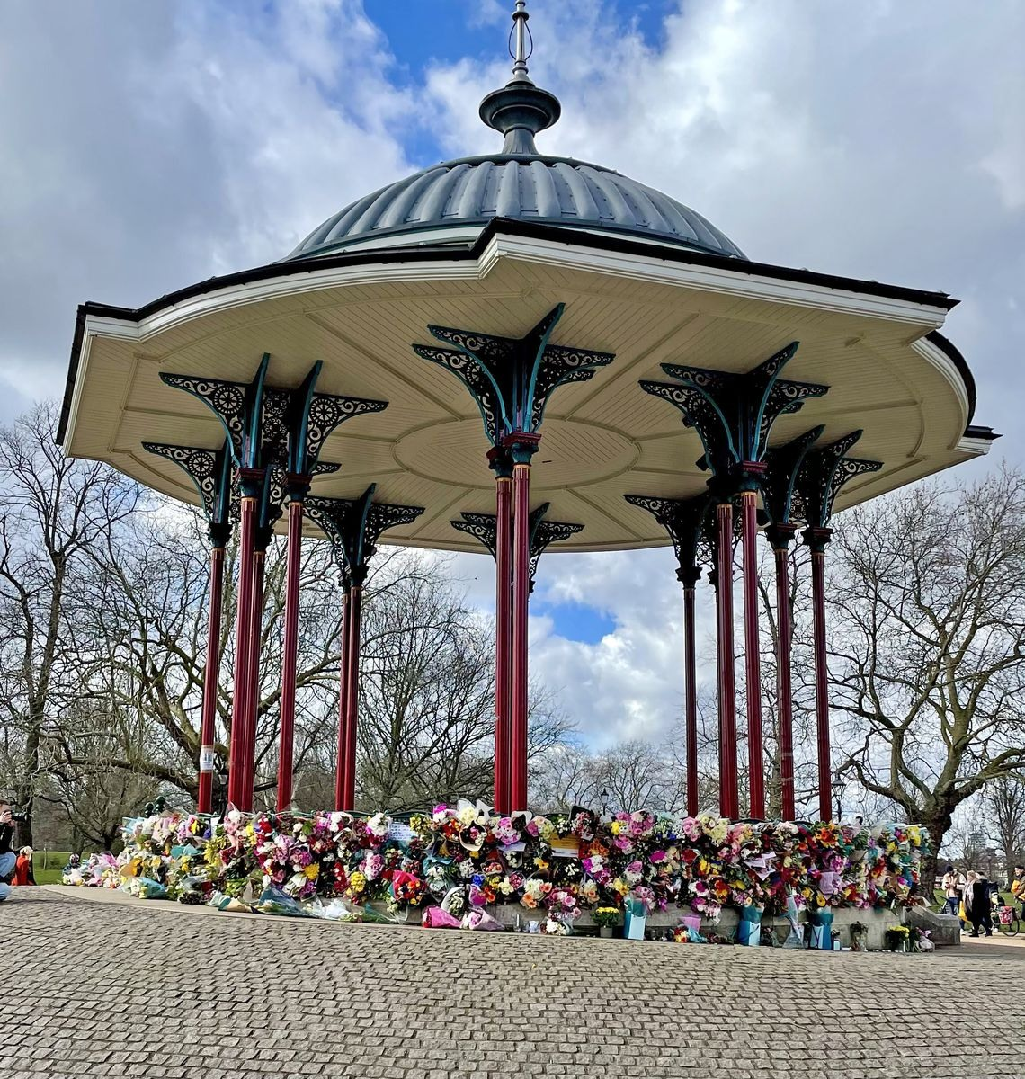 Saturday 13 March — Flowers appear on the Bandstand