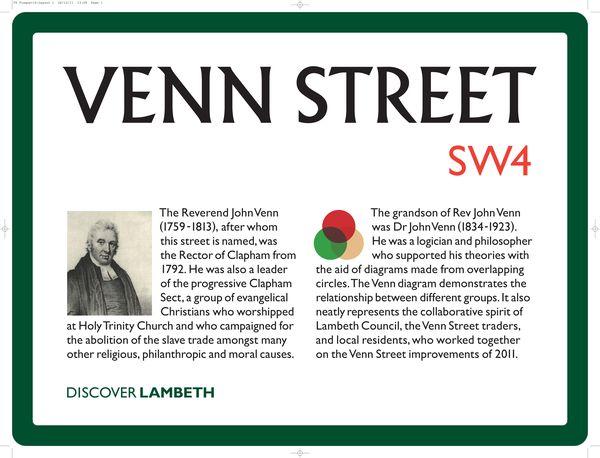Venn St plaque
