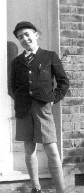 Peter in school uniform 1956