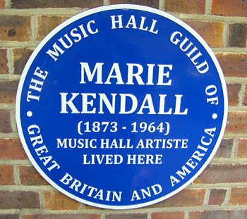 Plaque to Marie Kendall