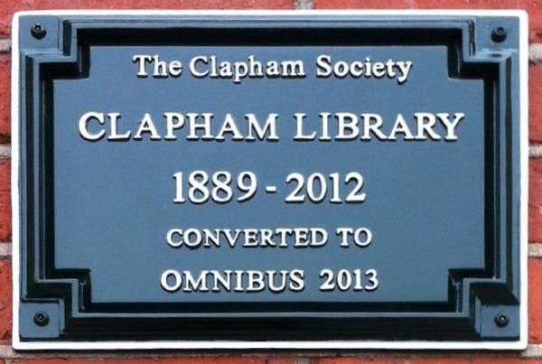 Plaque 6 -Clapham Library - Clapham Society