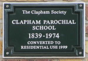Parochial School Green Plaque in situ