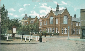 Library in Clapham postcard