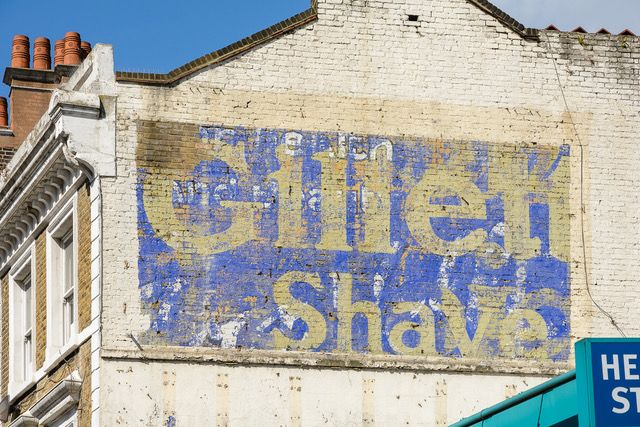 Ghost Sign Gillette by Roy Reed